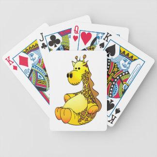 Cartoon Giraffe Stuffed Toy Refined Bicycle Playing Cards