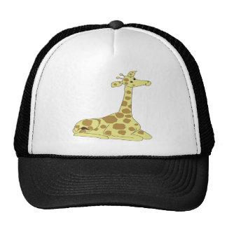 Cartoon Giraffe Trucker Hat