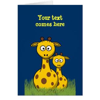cartoon giraffes card