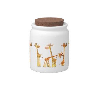 Cartoon Giraffes: The Herd Candy Jar