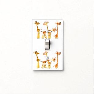 Cartoon Giraffe Wall Plates Light Switch Covers Zazzle