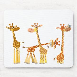 Cartoon Giraffes: The Herd mousepad
