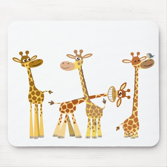 Cartoon Giraffes: The Herd mousepad
