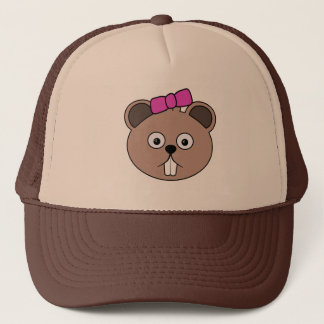 Cartoon Girl Beaver Face Hat