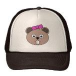 Cartoon Girl Beaver Face Hat
