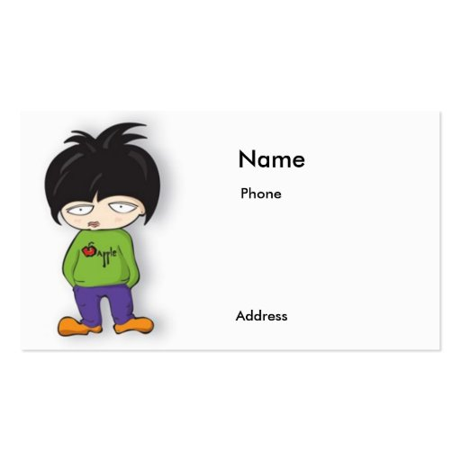 Cartoon girl business card zazzle for Cartoon business cards