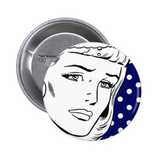 Cartoon Girl Pin