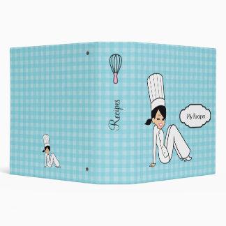 Cartoon Girl Chef Kitchen Binder