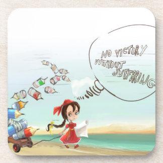 cartoon girl Cork Coaster