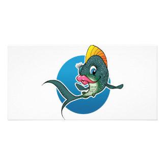 Cartoon Girl Fish Personalized Photo Card