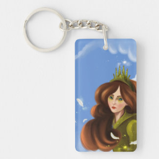 cartoon girl Key Chain