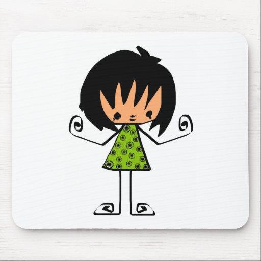 cartoon  girl mouse pads