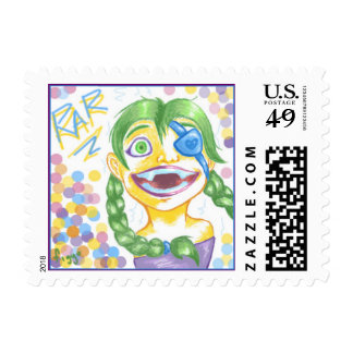Cartoon Girl Postage