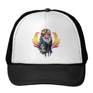 Cartoon Girl Trucker Hat