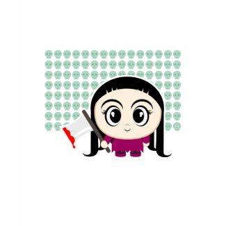 Cartoon Girl with an Axe
