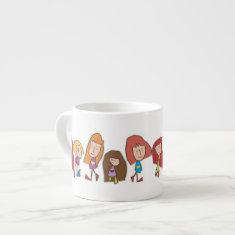 Cartoon Girls Expresso Mug Espresso Mug