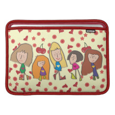 Cartoon Girls MacBook Air Sleeve