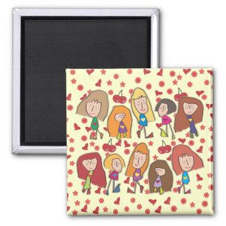 Cartoon Girls Magnet