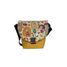 Cartoon Girls Mini Messenger Bag
