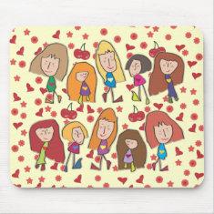 Cartoon Girls Mousepad
