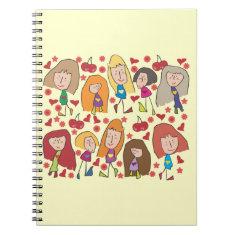 Cartoon Girls Notebooks