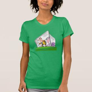 Cartoon Goalkeeper Womens T-Shirt