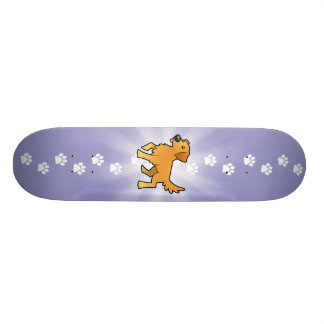 Cartoon Golden Retriever Skateboard Deck