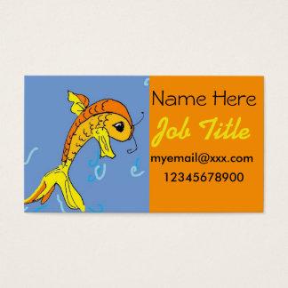 cartoon goldfish business card
