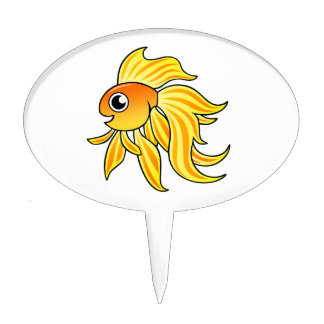 Cartoon Goldfish Cake Toppers