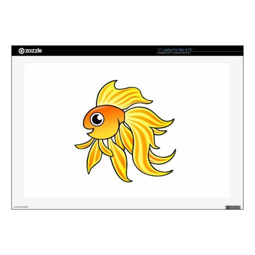 """Cartoon Goldfish Skin For 17"""" Laptop"""