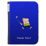 Cartoon Golfer; Blue Kindle 3 Cases