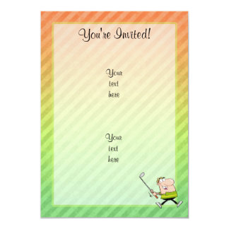 Cartoon Golfer design Card