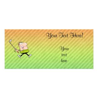 Cartoon Golfer design Rack Card