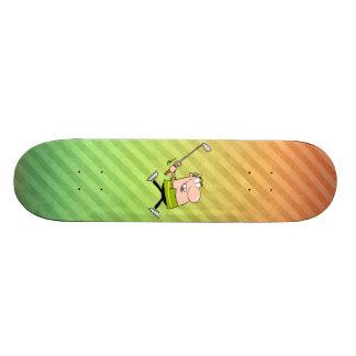 Cartoon Golfer design Skateboards