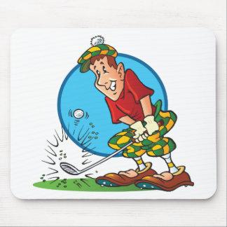 Cartoon Golfer Mouse Pad