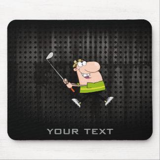 Cartoon Golfer Rugged Mousepads