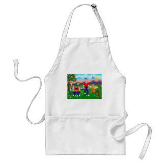 Cartoon Golfers - For the Love of Golf Adult Apron