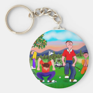 Cartoon Golfers - For the Love of Golf Keychain
