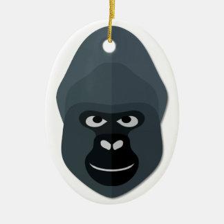 Cartoon Gorilla Head Ceramic Ornament