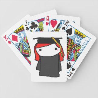 Cartoon Graduation Girl Bicycle Playing Cards