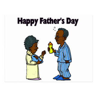 Cartoon Grandparents - Happy Father's Day Postcard