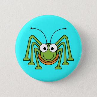 Cartoon Grasshopper Button