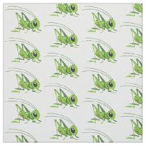 cartoon grasshopper fabric