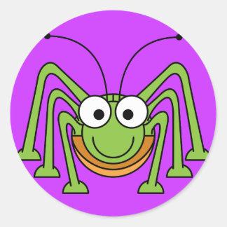 Cartoon Grasshopper Sticker