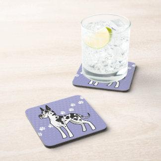 Cartoon Great Dane (cropped) Beverage Coaster