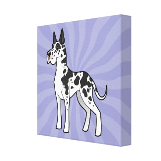 Cartoon Great Dane (cropped) Canvas Print