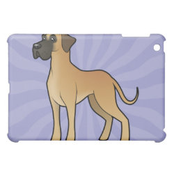 Case Savvy iPad Mini Glossy Finish Case with Great Dane Phone Cases design