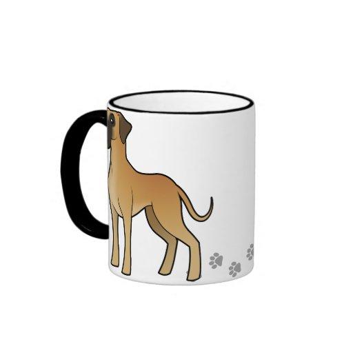 Cartoon Great Dane Mugs