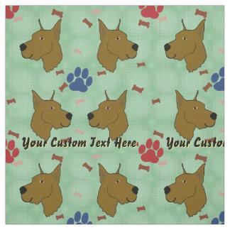 Cartoon Great Dane - Personalized Fabric