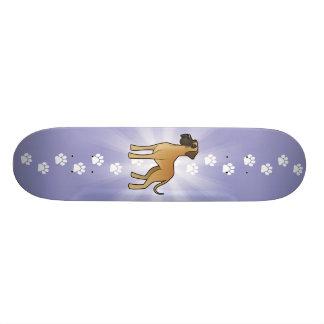 Cartoon Great Dane Skateboard